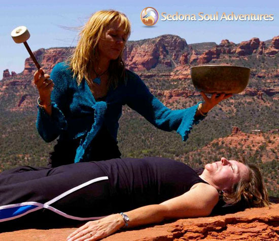 Sedona Soul Adventures Practitioner in Session